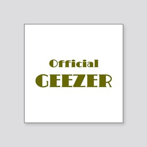 """Official Geeze Square Sticker 3"""" x 3"""""""