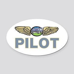 RV Pilot  Oval Car Magnet