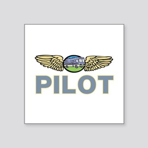 "RV Pilot Square Sticker 3"" x 3"""