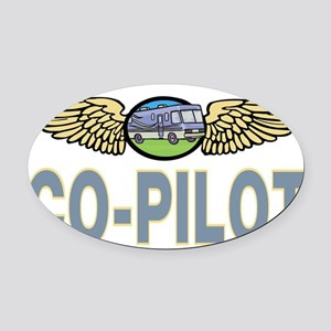 RVcopilot5 Oval Car Magnet