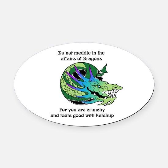 Dragon Crunchies Oval Car Magnet
