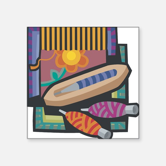 """21547238weaving.png Square Sticker 3"""" x 3"""""""