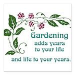 "gardeningaddslife Square Car Magnet 3"" x 3"""