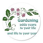 gardeningaddslife Round Car Magnet