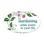 gardeningaddslife.png Oval Car Magnet