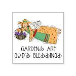 1056h3075gardenersangel Square Sticker 3