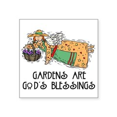 1056h3075gardenersangel.png Square Sticker 3