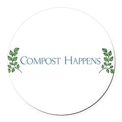 composthappens45 Round Car Magnet