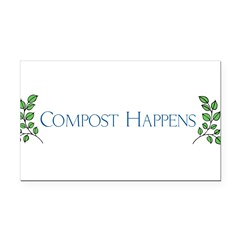 composthappens45 Rectangle Car Magnet