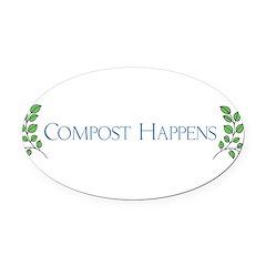 composthappens45 Oval Car Magnet