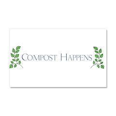 composthappens45 Car Magnet 20 x 12