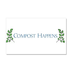 composthappens45 Car Magnet 20 x 12