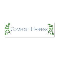 composthappens45 Car Magnet 10 x 3