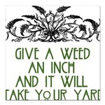 "weed221.png Square Car Magnet 3"" x 3"""