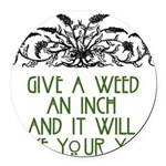 weed221.png Round Car Magnet