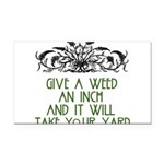 weed221.png Rectangle Car Magnet