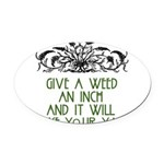 weed221.png Oval Car Magnet