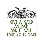 "weed221 Square Sticker 3"" x 3"""
