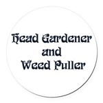 headgardener Round Car Magnet