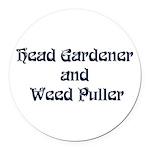 headgardener Round Car Magnet