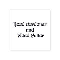 headgardener Square Sticker 3