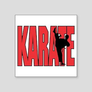 "Karate Square Sticker 3"" x 3"""