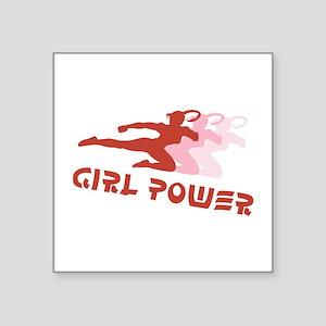 Martial Arts Girl Power Square Sticker