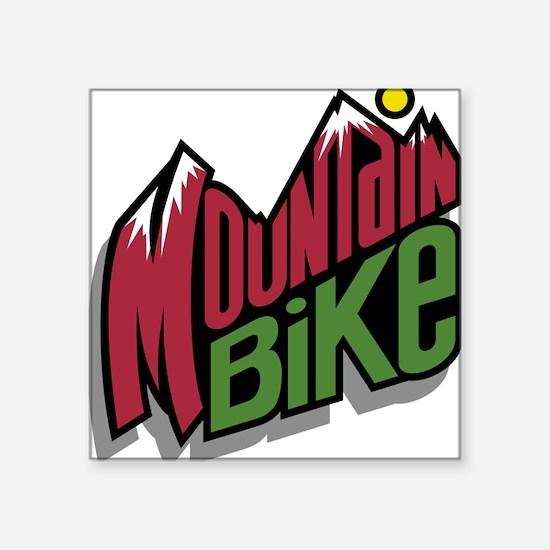 "32190526mountainbike2.png Square Sticker 3"" x 3"""