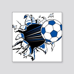 "32208381soccerburst trans Square Sticker 3"" x"