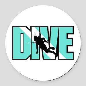 Dive Round Car Magnet