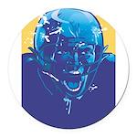 3065256 bluefootballplayerxxxxx Round Car Magn