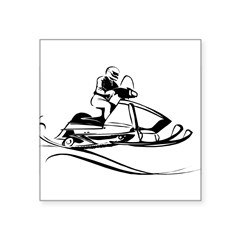 1089h7563snowmobiler.png Square Sticker 3