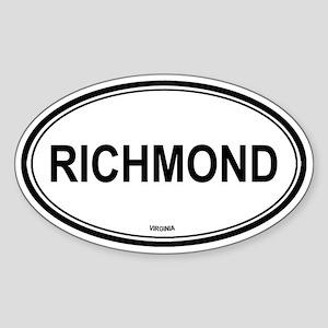 Richmond (Virginia) Oval Sticker