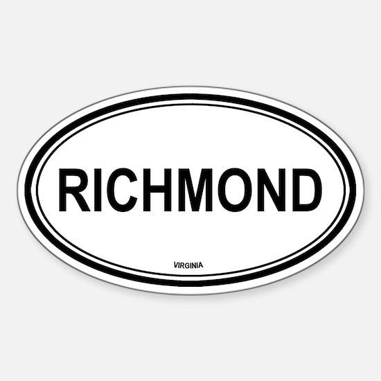 Richmond (Virginia) Oval Decal