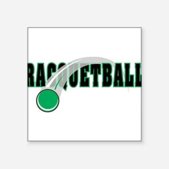 "33038539raquetball.png Square Sticker 3"" x 3"""