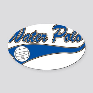 33038671waterpolo Oval Car Magnet