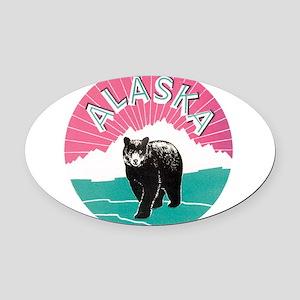 153alaska bear Oval Car Magnet