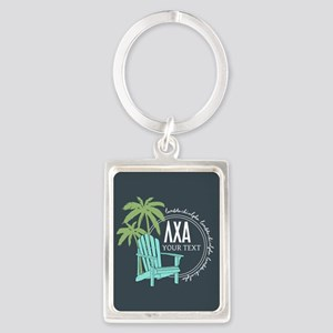 Lambda Chi Alpha Beach Personali Portrait Keychain