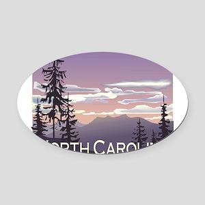 1074h5406smokymountains Oval Car Magnet