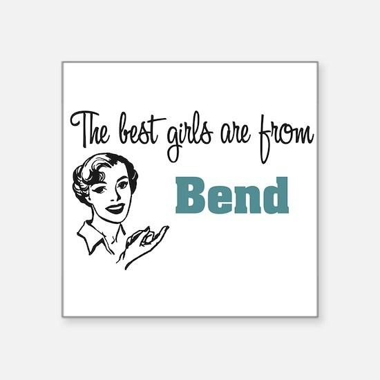 "coolestgirlsBend.png Square Sticker 3"" x 3"""