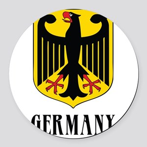 3-coat of arms for germany dark Round Car Magn