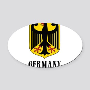 3-coat of arms for germany dark Oval Car Magne