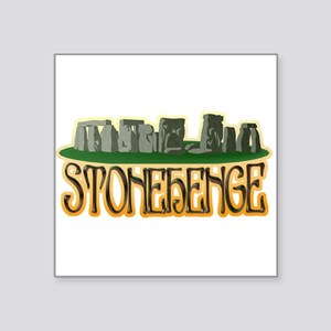 "1052h6433stonehenge2 light Square Sticker 3"" x"