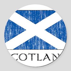 scotland00100002386 Round Car Magnet