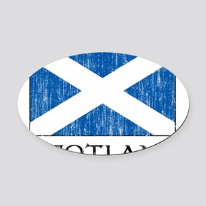 scotland00100002386 Oval Car Magnet