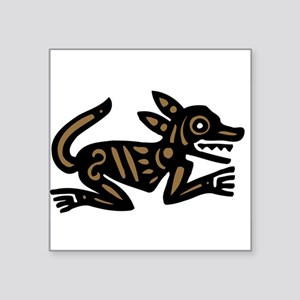 "dog347.png Square Sticker 3"" x 3"""