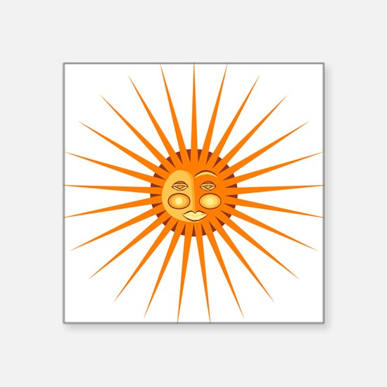 """1069h0324sunface.png Square Sticker 3"""" x 3"""""""
