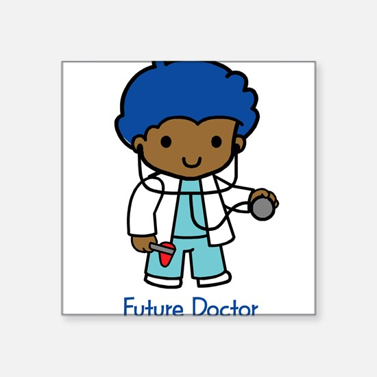 "19994010futuredoctor.png Square Sticker 3"" x 3"""