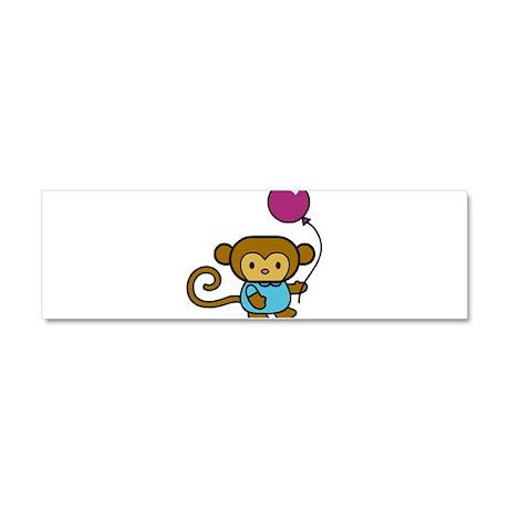 1089h3881hellomonkey.png Car Magnet 10 x 3