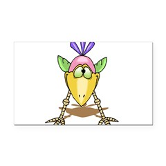 1058h9825goofybird.png Rectangle Car Magnet